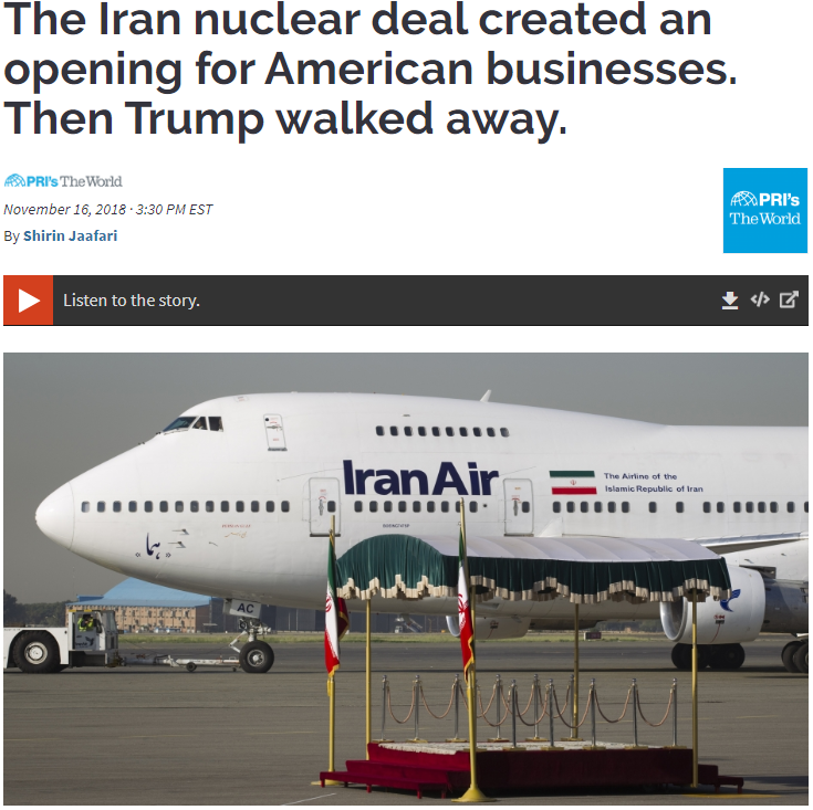 The Iran nuclear deal created an opening for American businesses. Then Trump walked away.